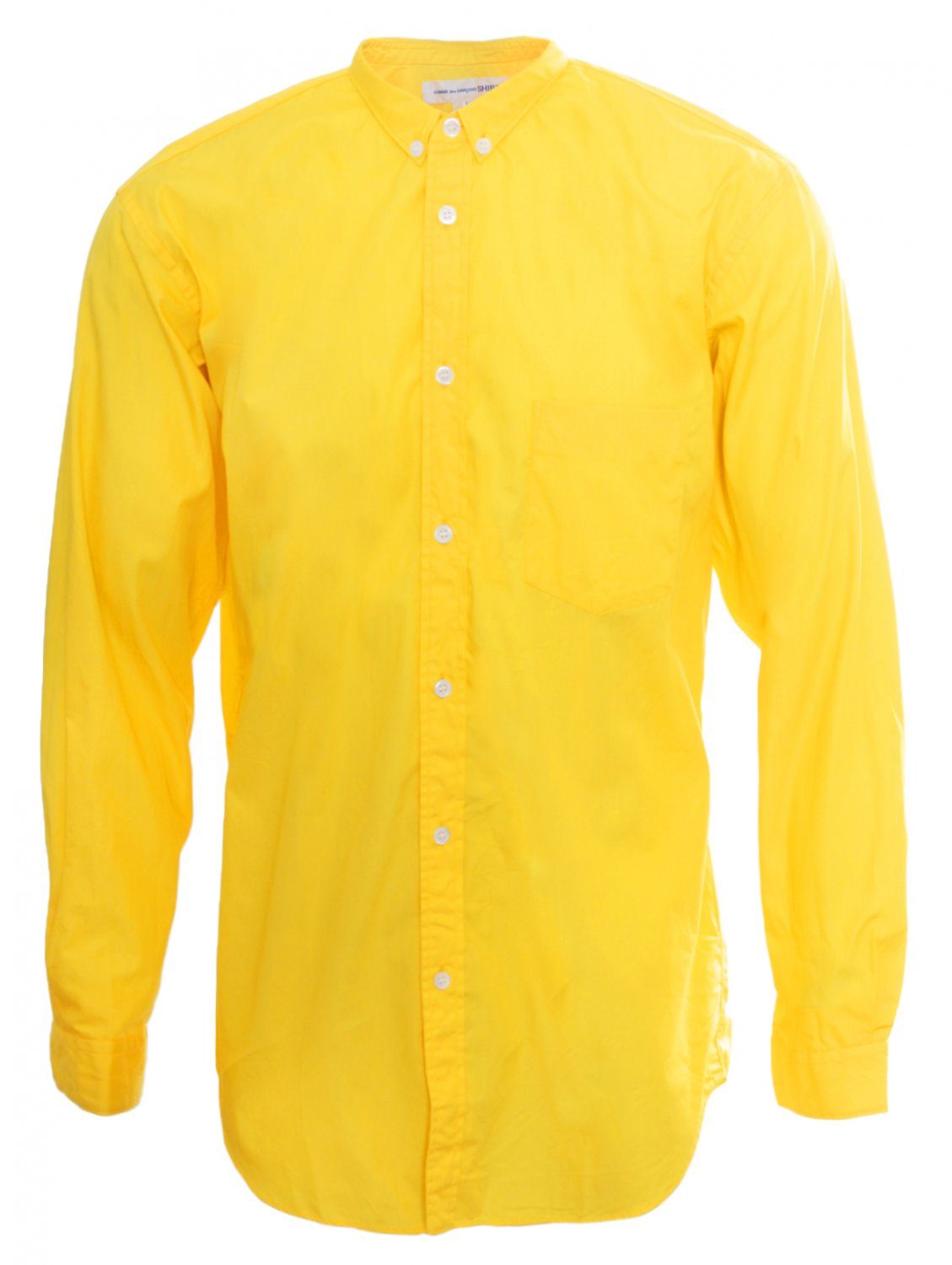 Comme Des Gar 231 Ons Classic Cotton Shirt Bright Yellow In
