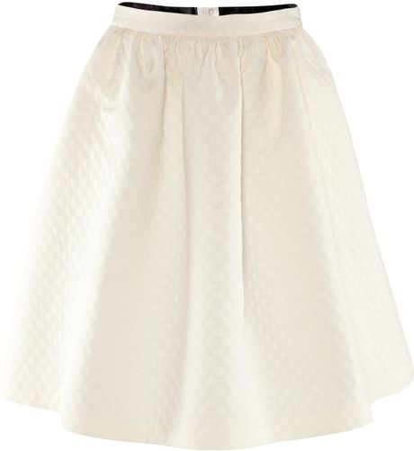 H&m Flared Skirt in White (natural)