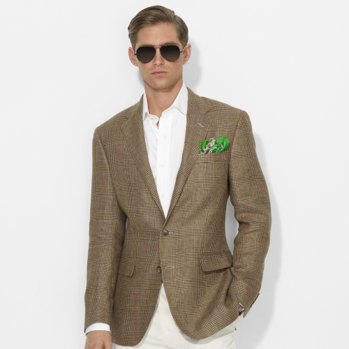 Polo ralph lauren Glen Plaid Sport Coat in Brown for Men | Lyst