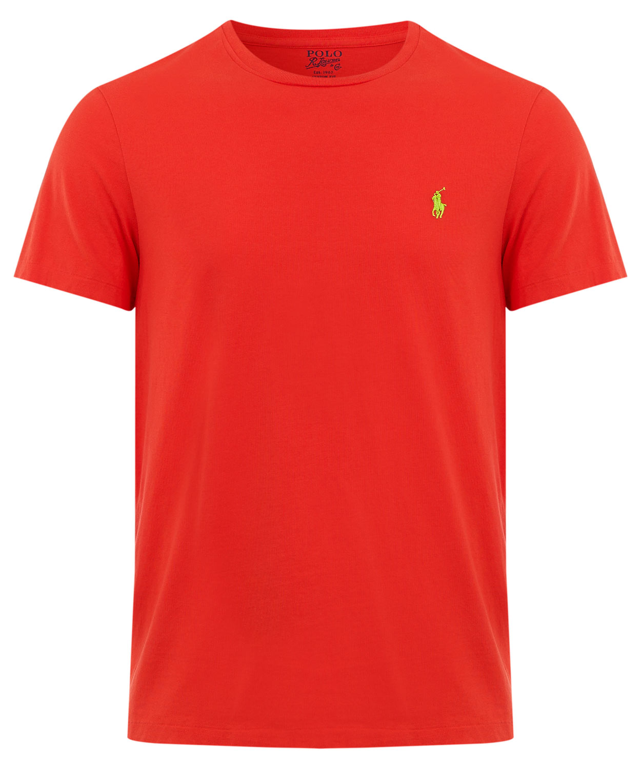 polo ralph lauren red crew neck cotton t shirt in red for. Black Bedroom Furniture Sets. Home Design Ideas