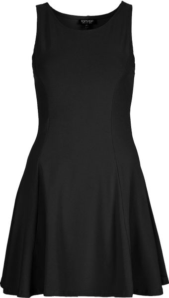 Topshop Clean Seam Flippy Tunic in Black