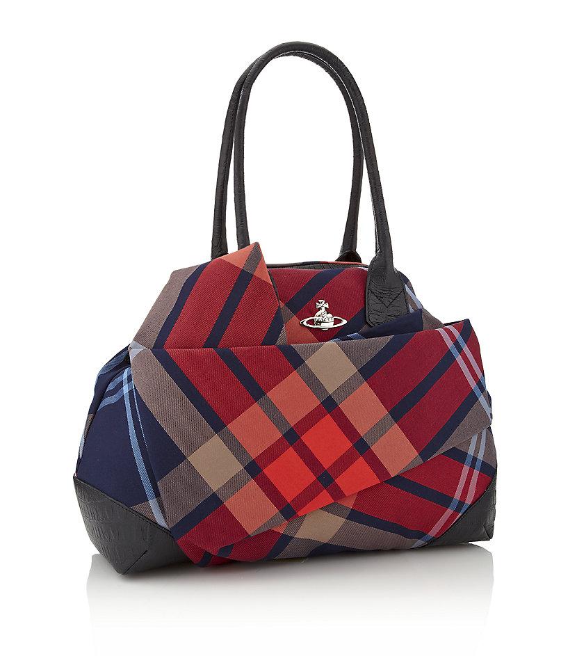 de6ec82cad Vivienne Westwood Capri Tartan Bag in Red - Lyst