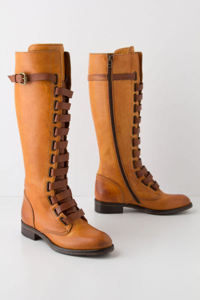 anthropologie cavalry boots in beige lyst