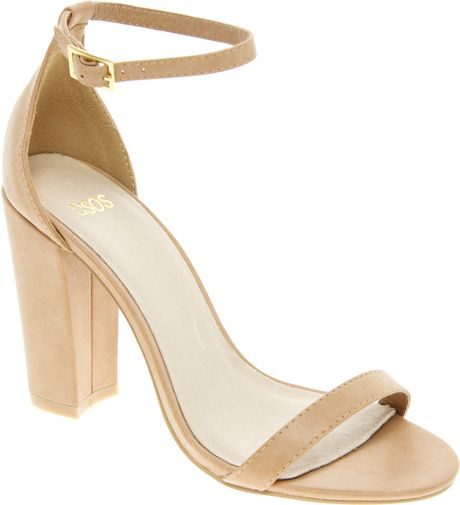 Asos Asos Hometown Heeled Sandals in Beige (natural)