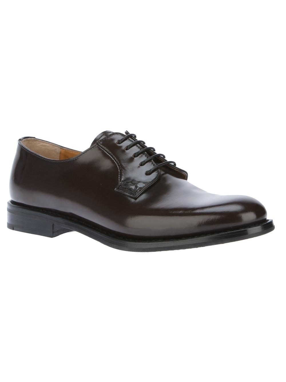 church s shannon derby shoe in black lyst