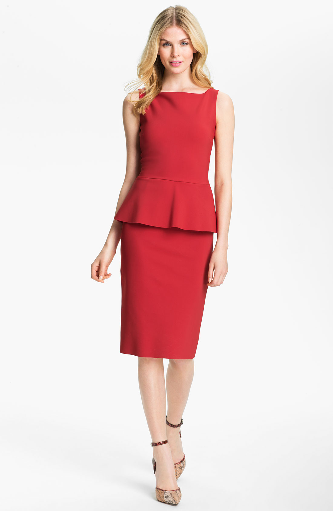 Chiara Boni The Most Popular Dress In America: La Petite Robe Di Chiara Boni Sleeveless Peplum Sheath