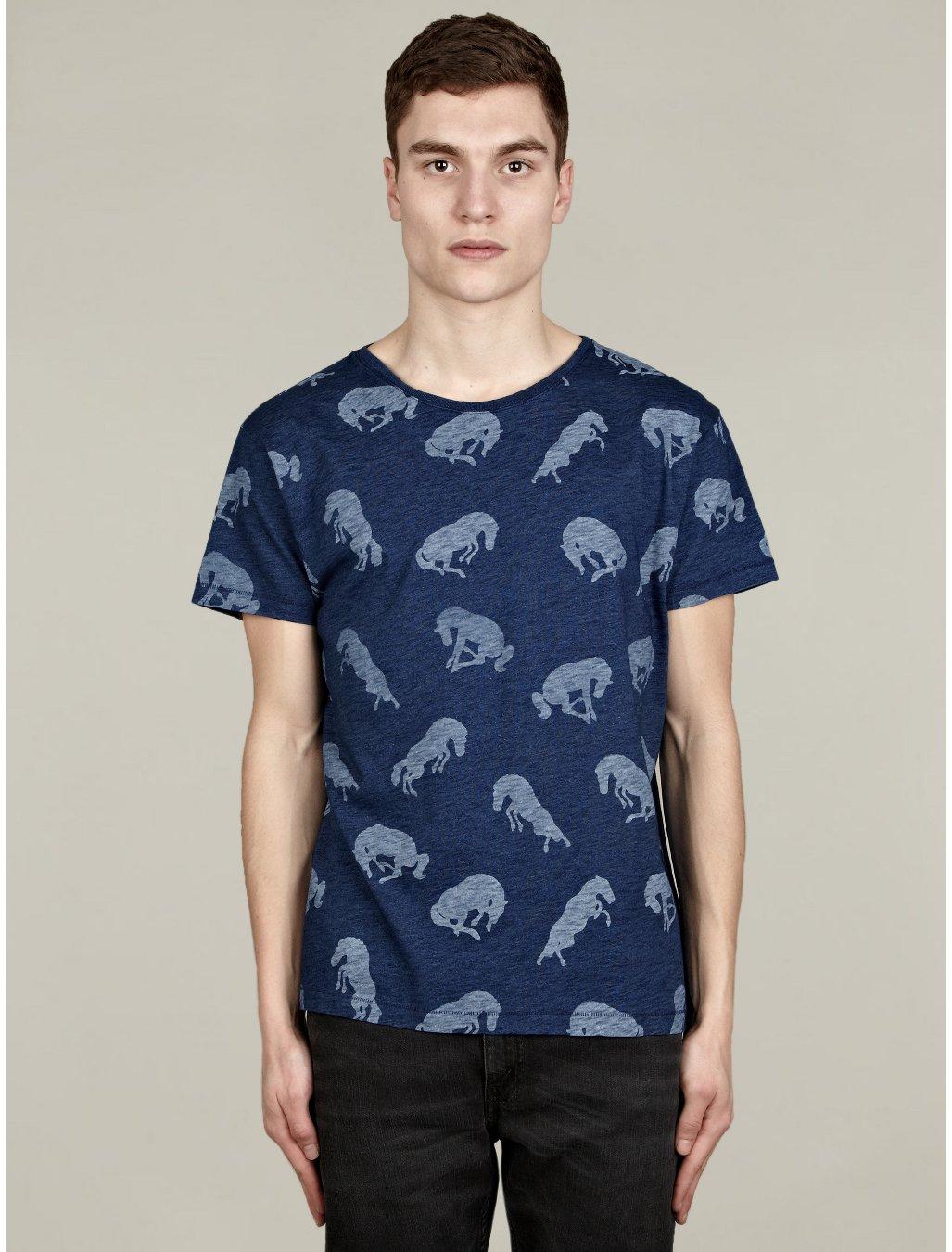Levi 39 s mens stallion print bay tshirt in blue for men for South bay t shirt printing