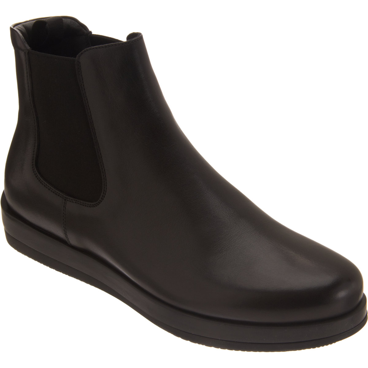 prada wedge chelsea boot in black for lyst
