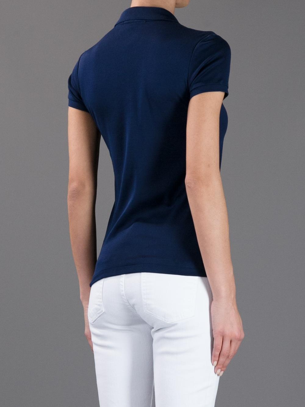 Ralph lauren black label logo polo shirt in blue lyst for Ralph lauren black label polo shirt