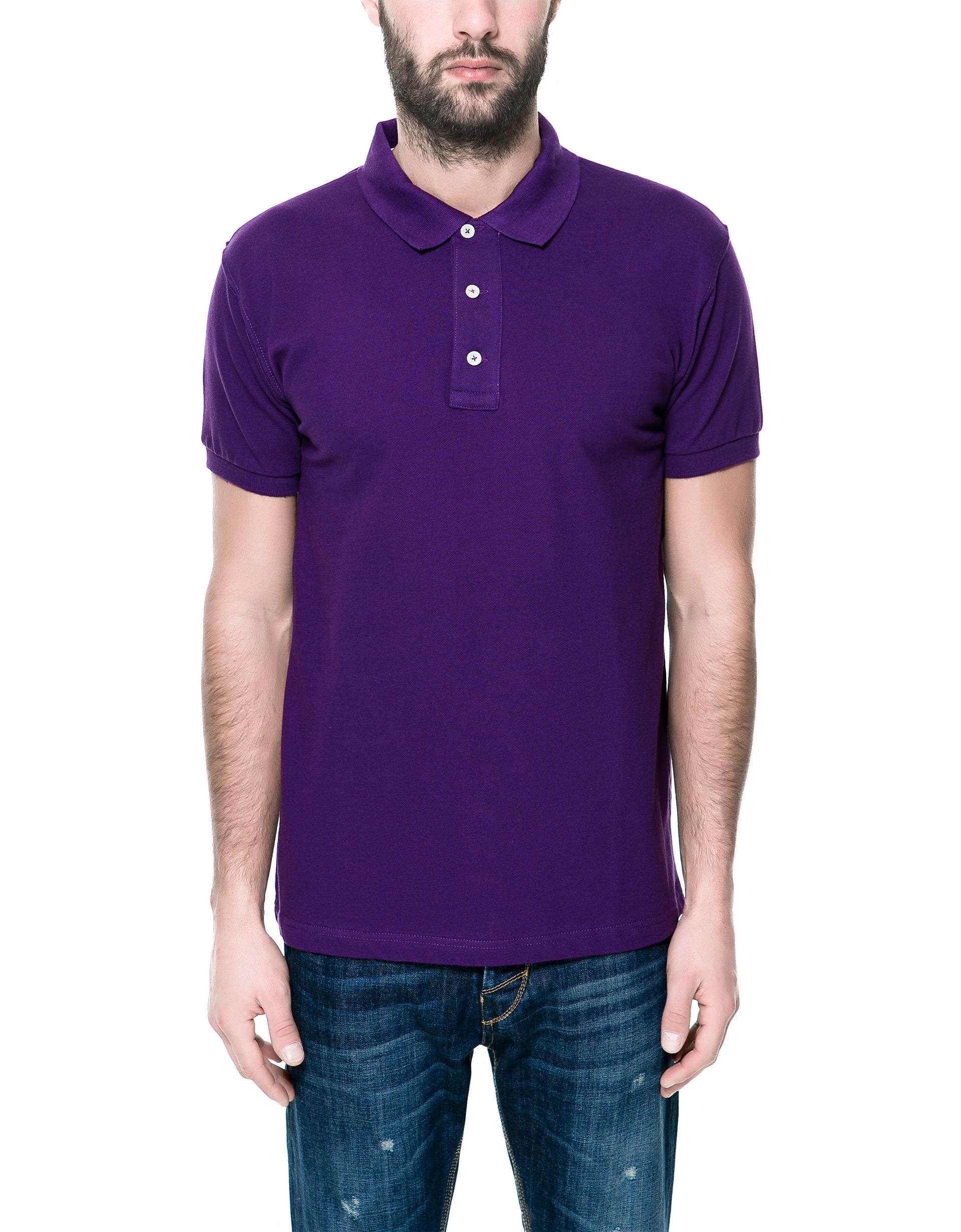 Zara piqu polo shirt in purple for men lyst for Zara mens shirts sale