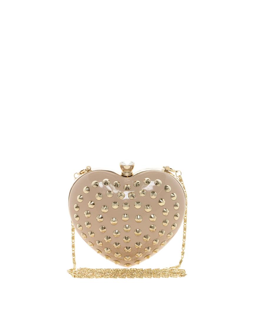 ALDO Hawse Studded Heart Clutch in Nude (Natural) - Lyst