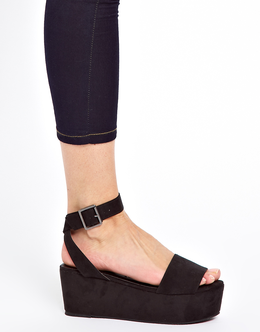 7779b9732 ASOS Asos Humble Flatforms in Black - Lyst