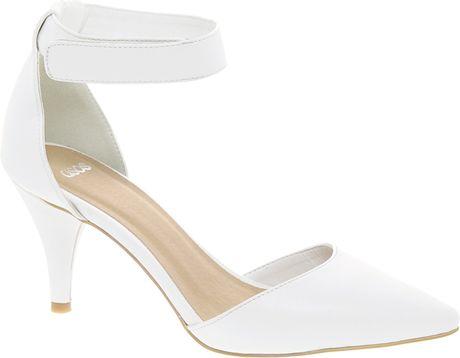 Asos Asos Sonic Pointed Heels in White