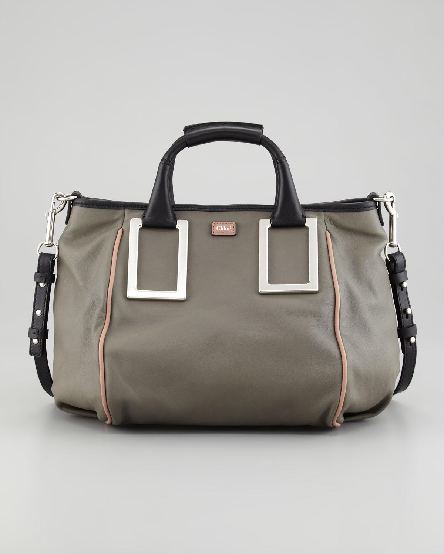 Lyst - Chloé Ethel Medium Satchel Bag in Gray 5772ed99b