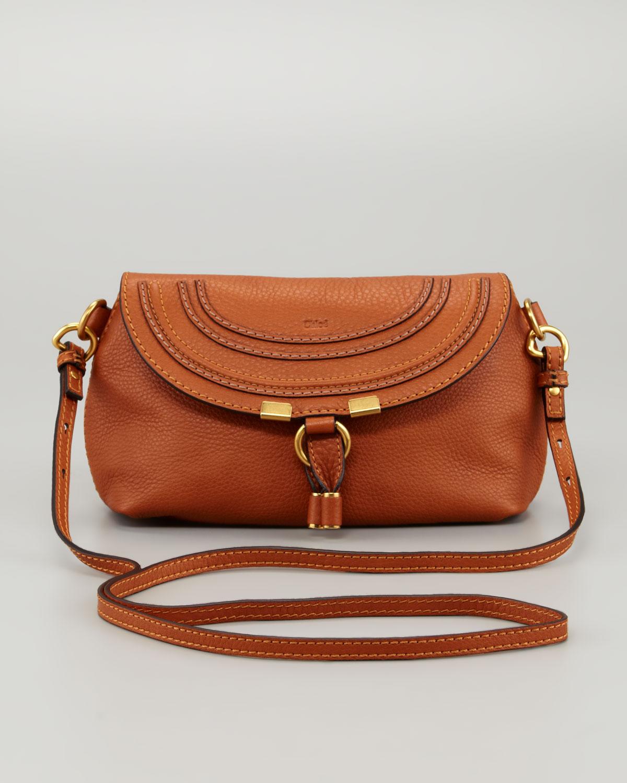 1c156be097 Lyst - Chloé Marcie Pouchette Crossbody Bag in Orange