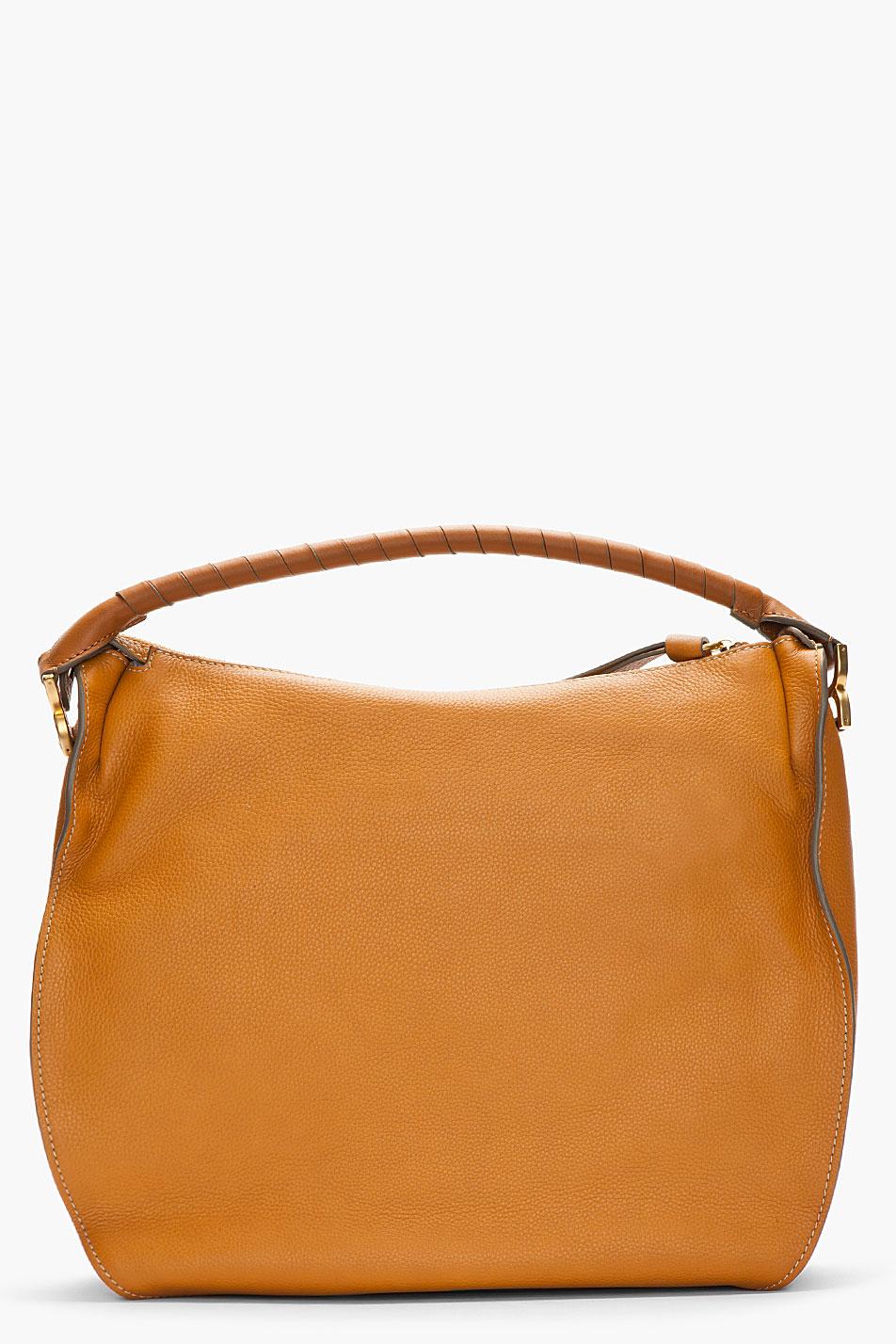 Chlo 233 Large Marcie Hobo Bag In Tan Brown Lyst