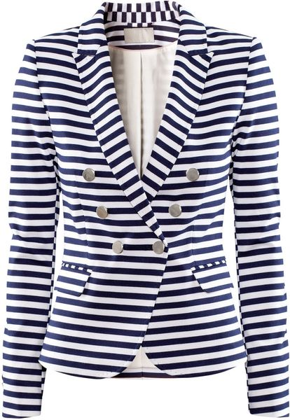 H&m Striped acket in White