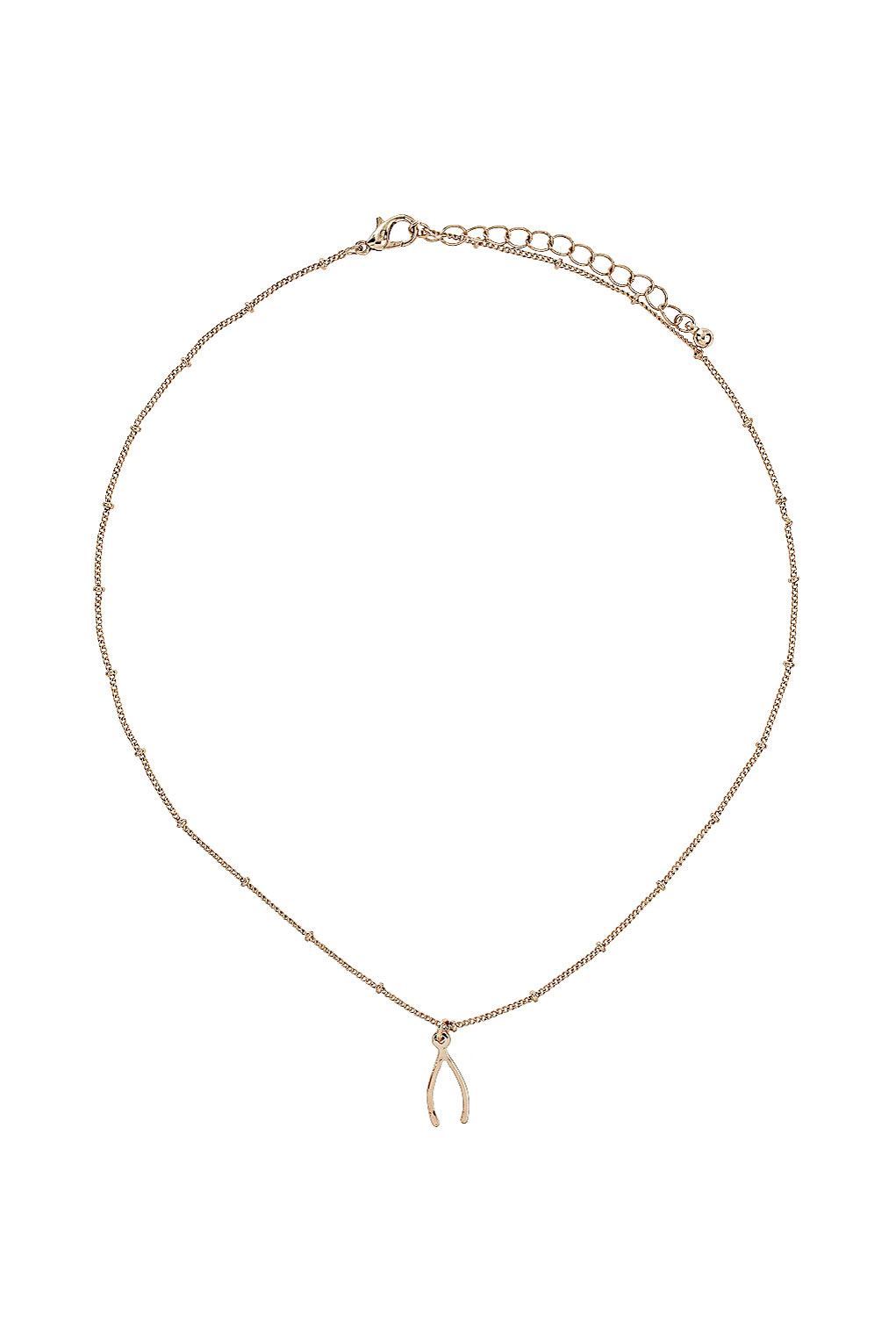 TOPSHOP Make A Wish Necklace in Gold (Metallic)
