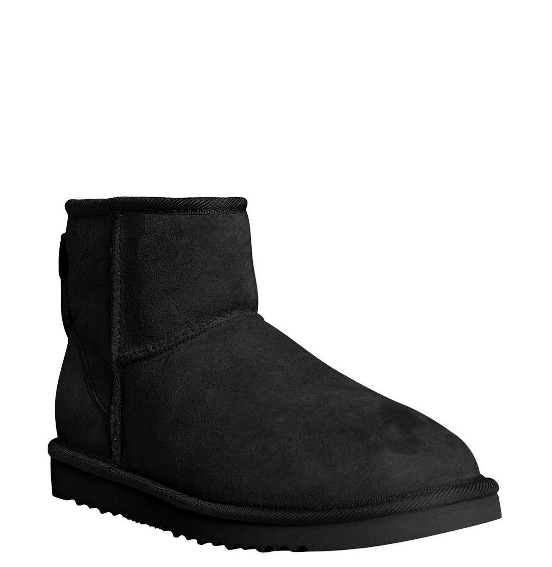ugg australia classic mini boot in black lyst. Black Bedroom Furniture Sets. Home Design Ideas