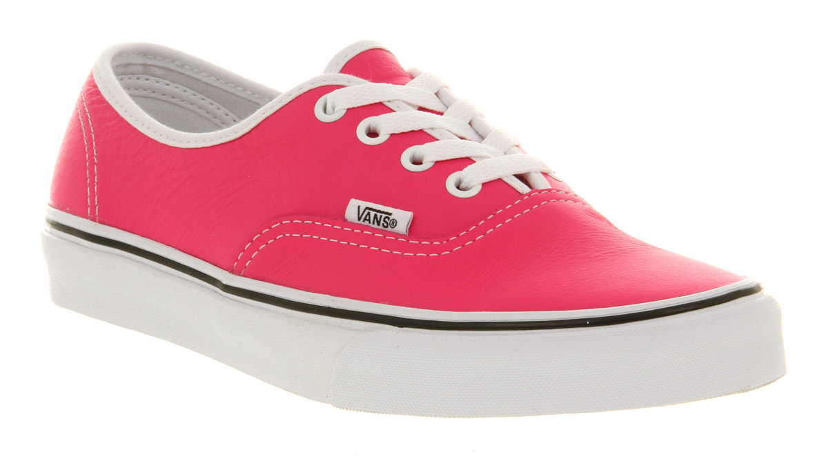 b720e5d6ec Lyst - Vans Authentic Leather Neon Pink in Pink for Men