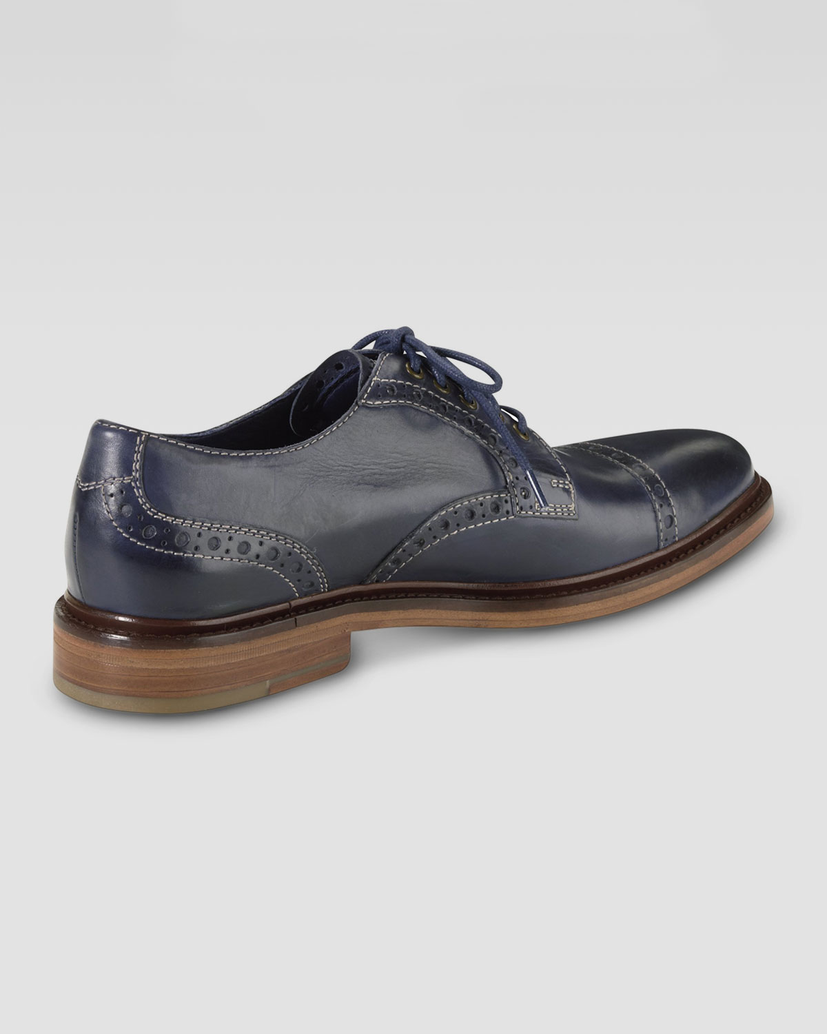 cole haan air harrison captoe shoe in blue for men lyst. Black Bedroom Furniture Sets. Home Design Ideas