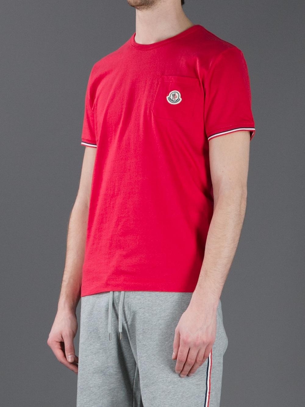 moncler red t shirt