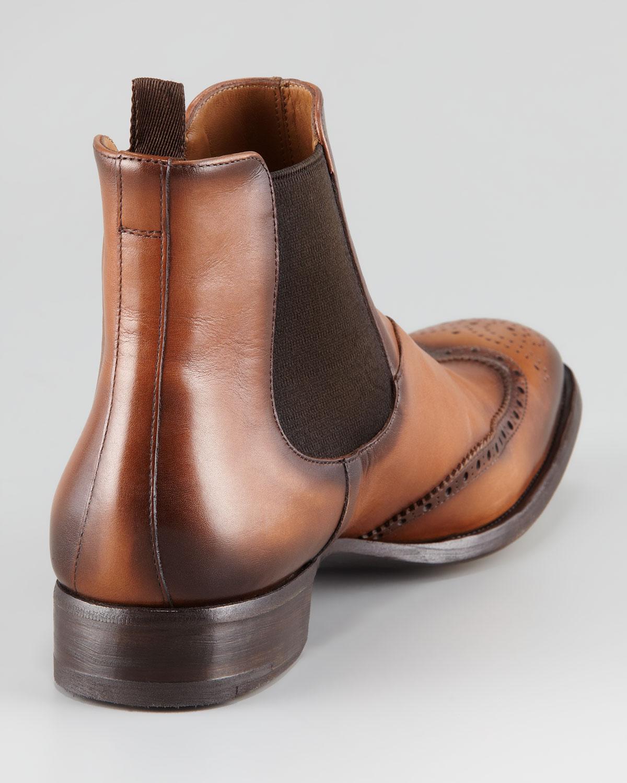 Prada Wingtip Chelsea Boots sale best prices HQ3Fb