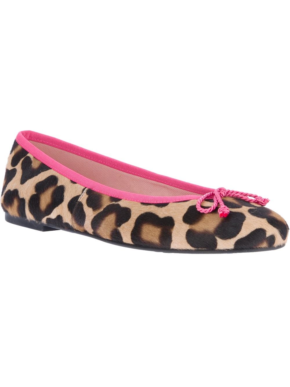 4c318176afa Pretty Ballerinas Leopard Print Ballerina in Pink - Lyst