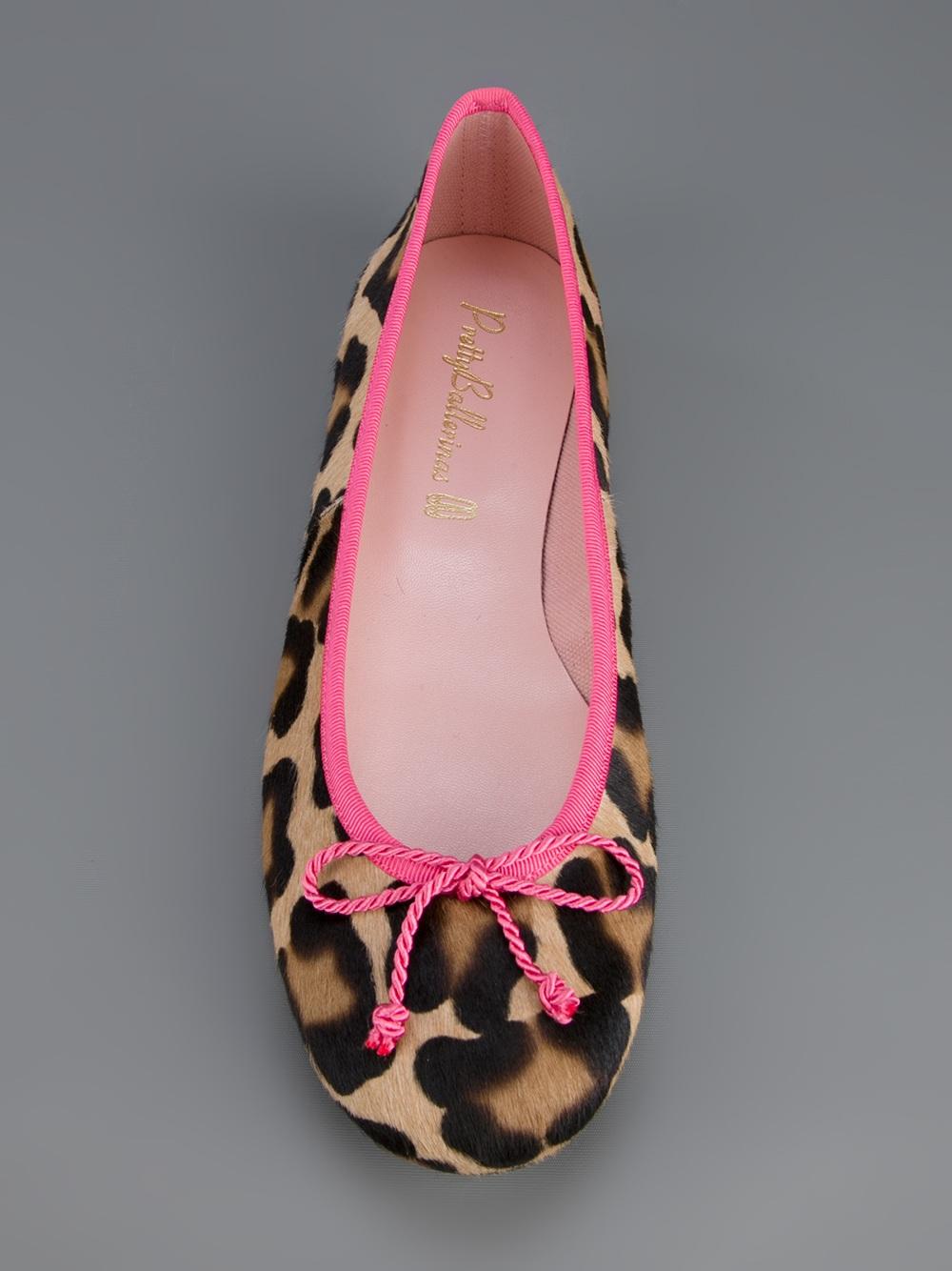 pretty ballerinas leopard print ballerina in pink leopard lyst. Black Bedroom Furniture Sets. Home Design Ideas