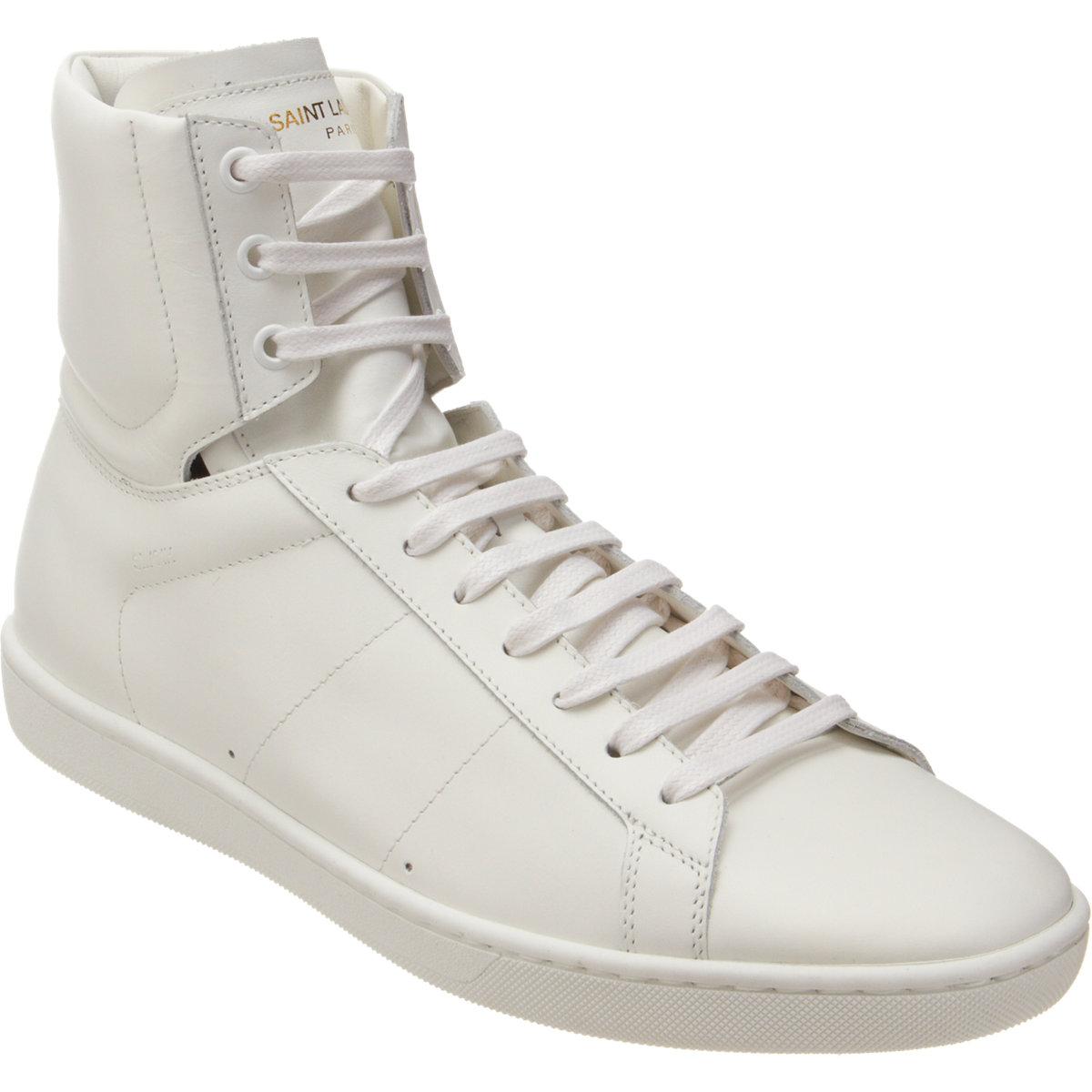 Men Sneaker Top For Saint Laurent High White Classic kXuZOiP