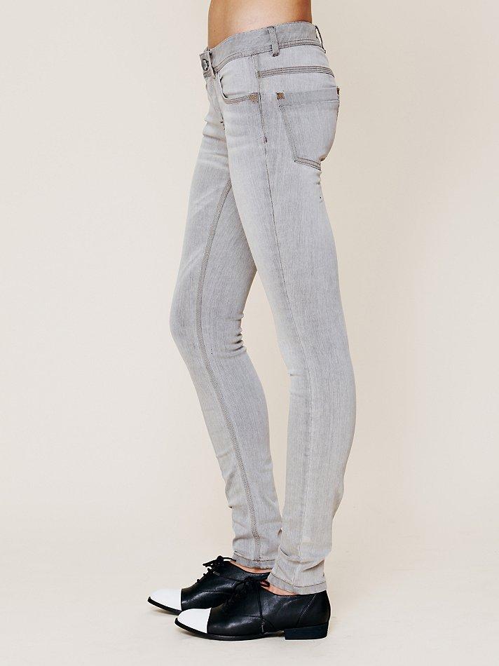 Free People Lightweight Stretch Skinnies in Grey