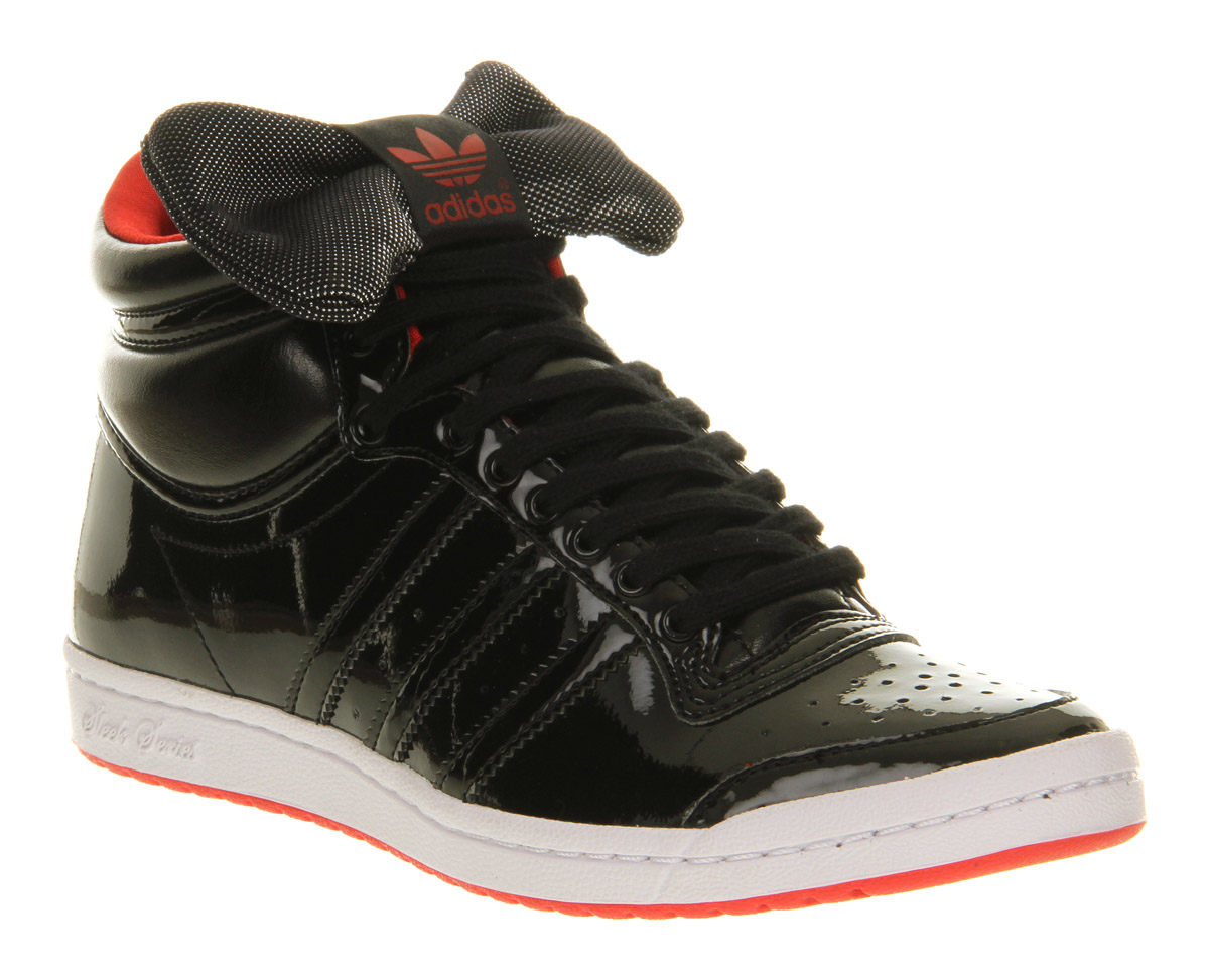 Promesa Abierto Humano  adidas Top Ten Hi Sleek Black Red Bow - Lyst