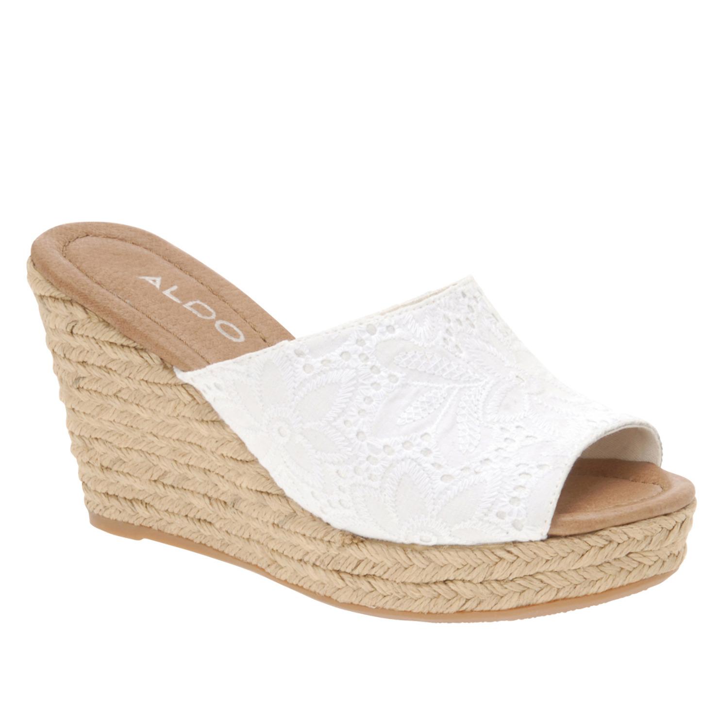b6b0139cf58 Lyst - ALDO Wedge Sandals in White