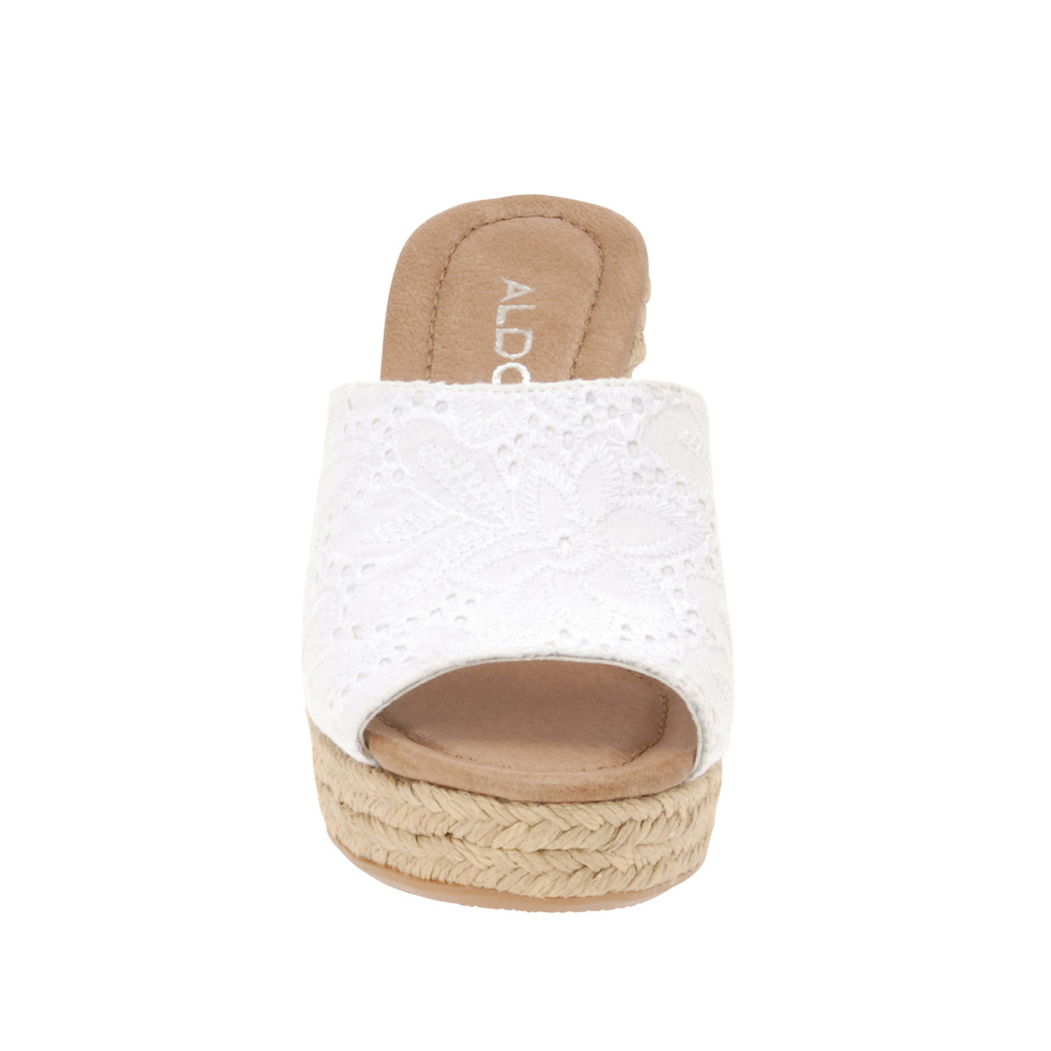 Aldo Wedge Sandals In White Lyst