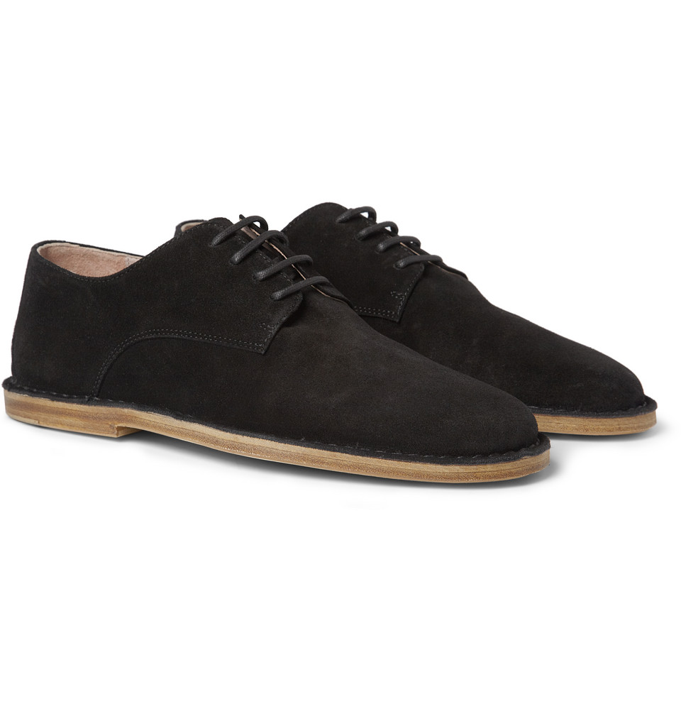 demeulemeester suede derby shoes in black for lyst