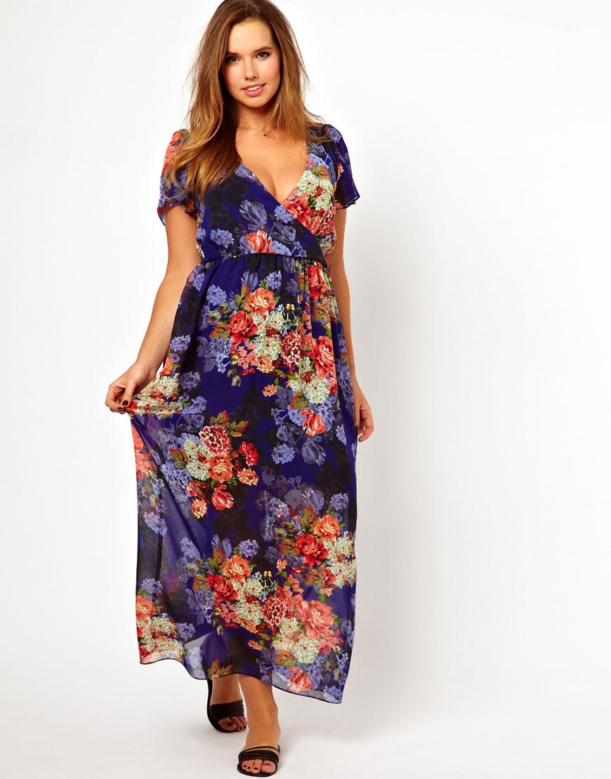 886f529f4 ASOS Maxi Dress in Vintage Floral Print - Lyst