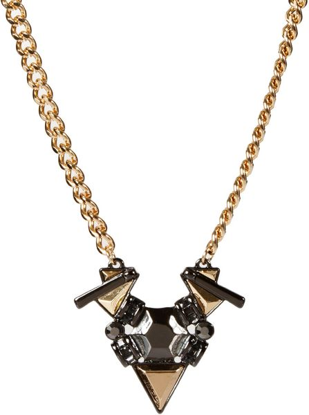 Asos Jewelled Shard Necklace in Multicolor (multi)