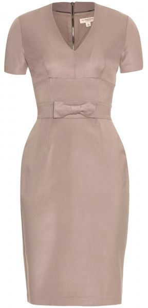 Burberry Moina Dress in Brown (taupe) - Lyst