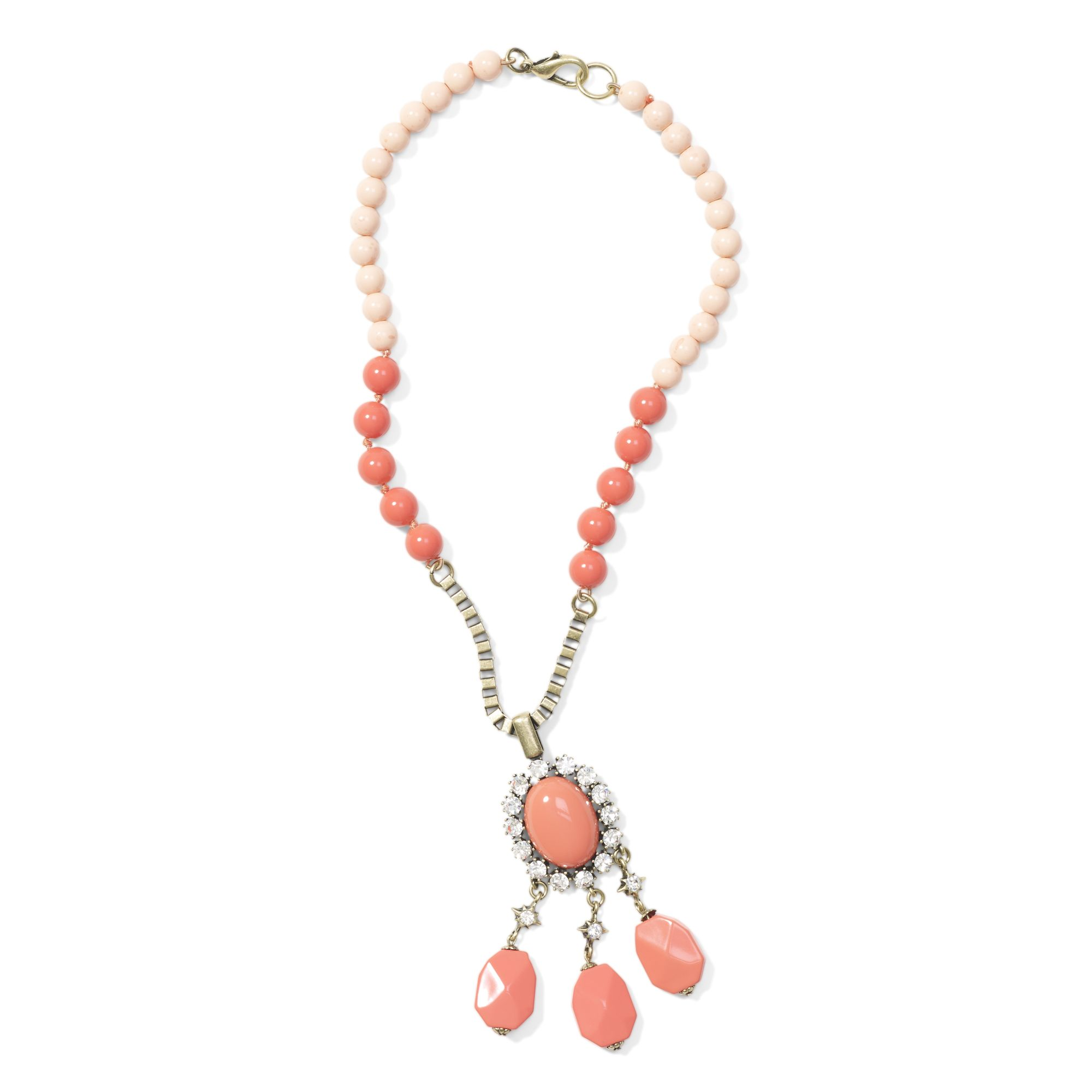 club monaco coral statement necklace in pink