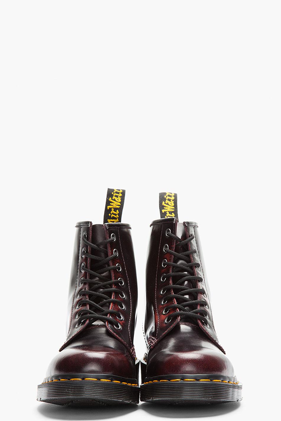 niesamowita cena Wielka wyprzedaż Najlepiej Burgundy Brushed Leather 8eye Boots