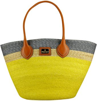 Emilio Pucci Tricolored Straw Bag - Lyst