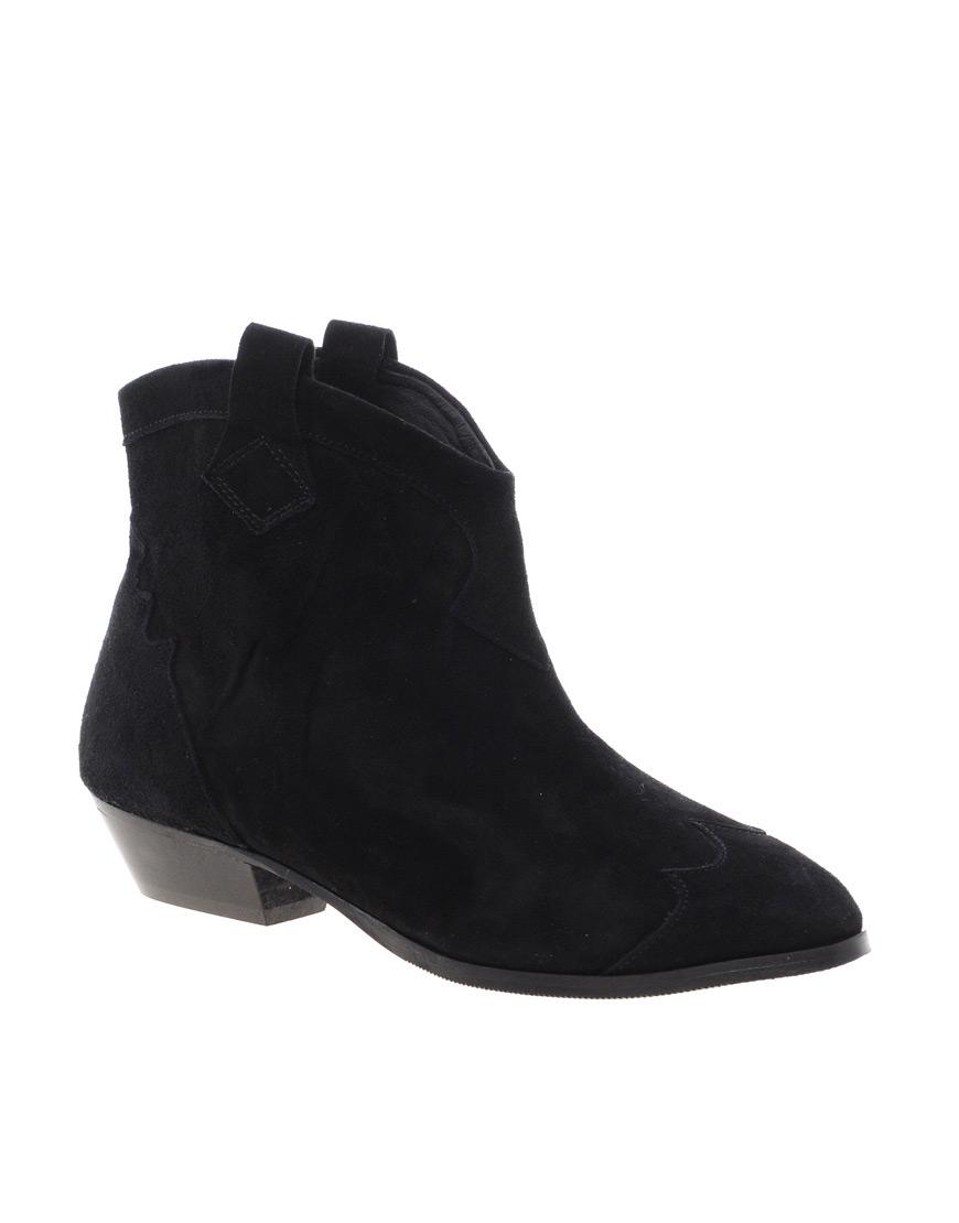 Lyst Ganni Tabitha Cowboy Ankle Boots In Black