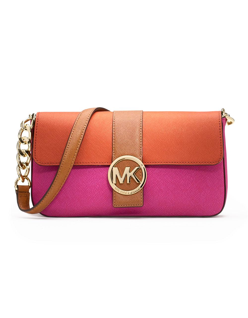 michael michael kors fulton saffiano color block purse in