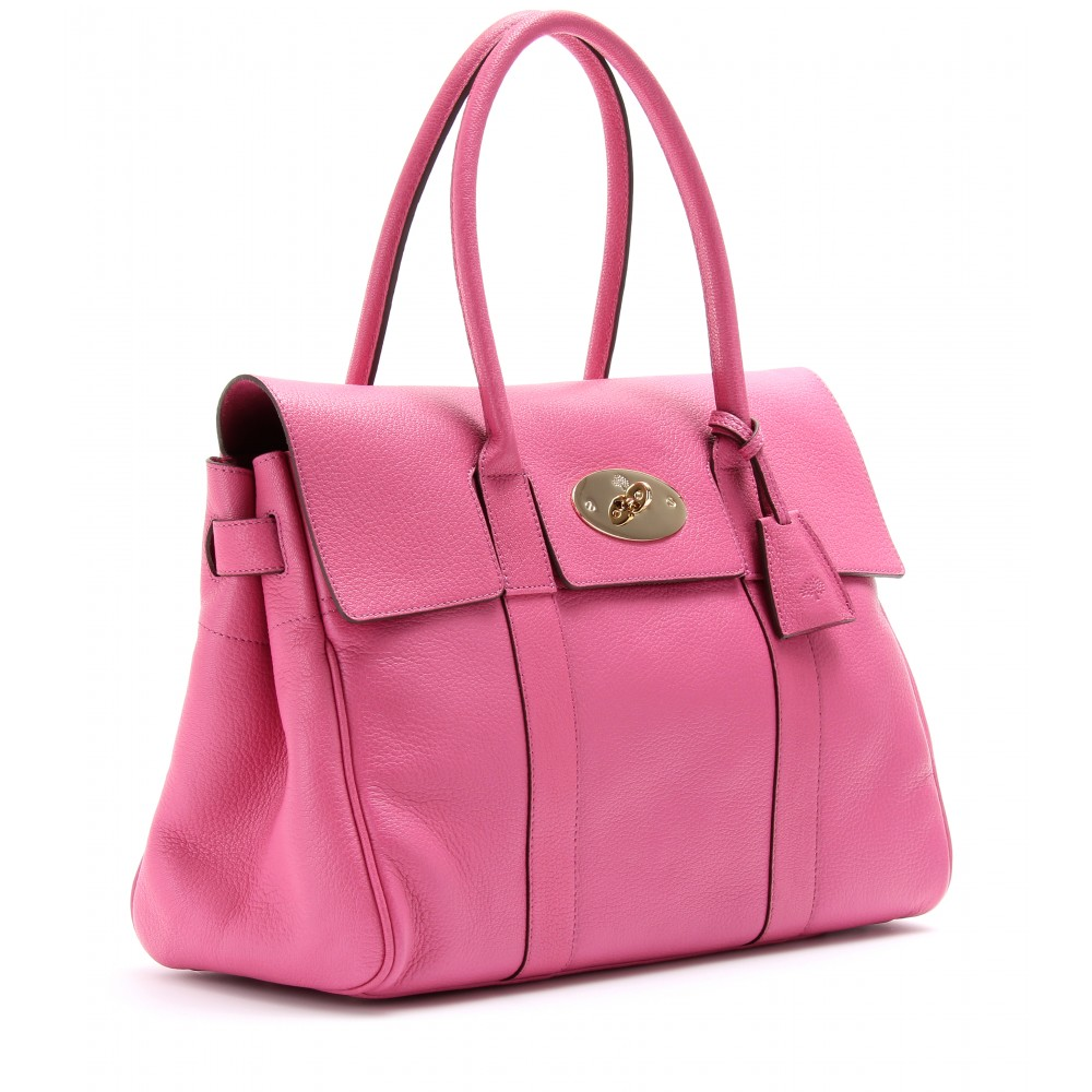 ... bag 01975 1d852 discount mulberry bayswater glossy leather tote in pink  lyst 3283e 28488 ... b14ccec8441e8