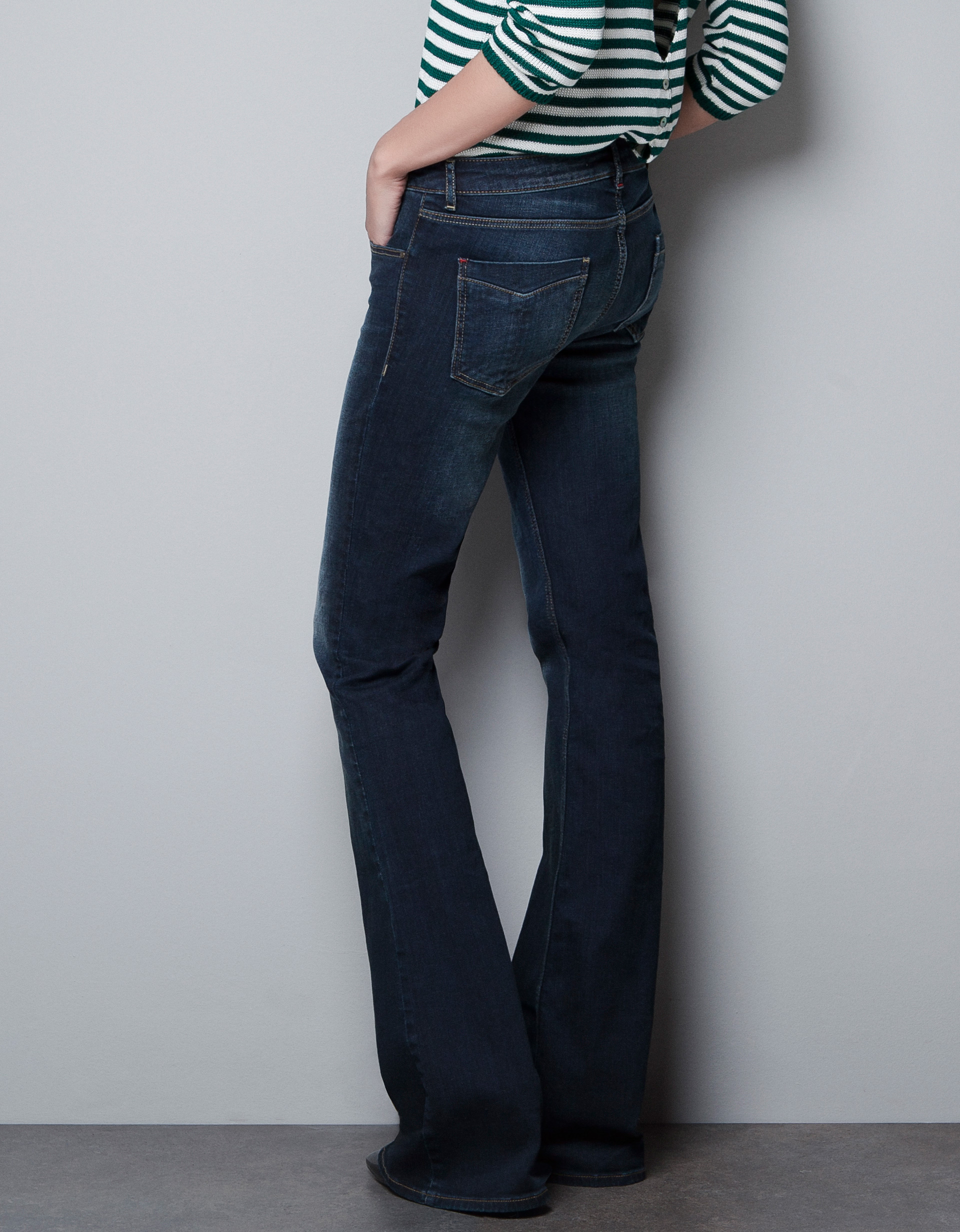 Zara Bell Bottom Jeans in Blue | Lyst