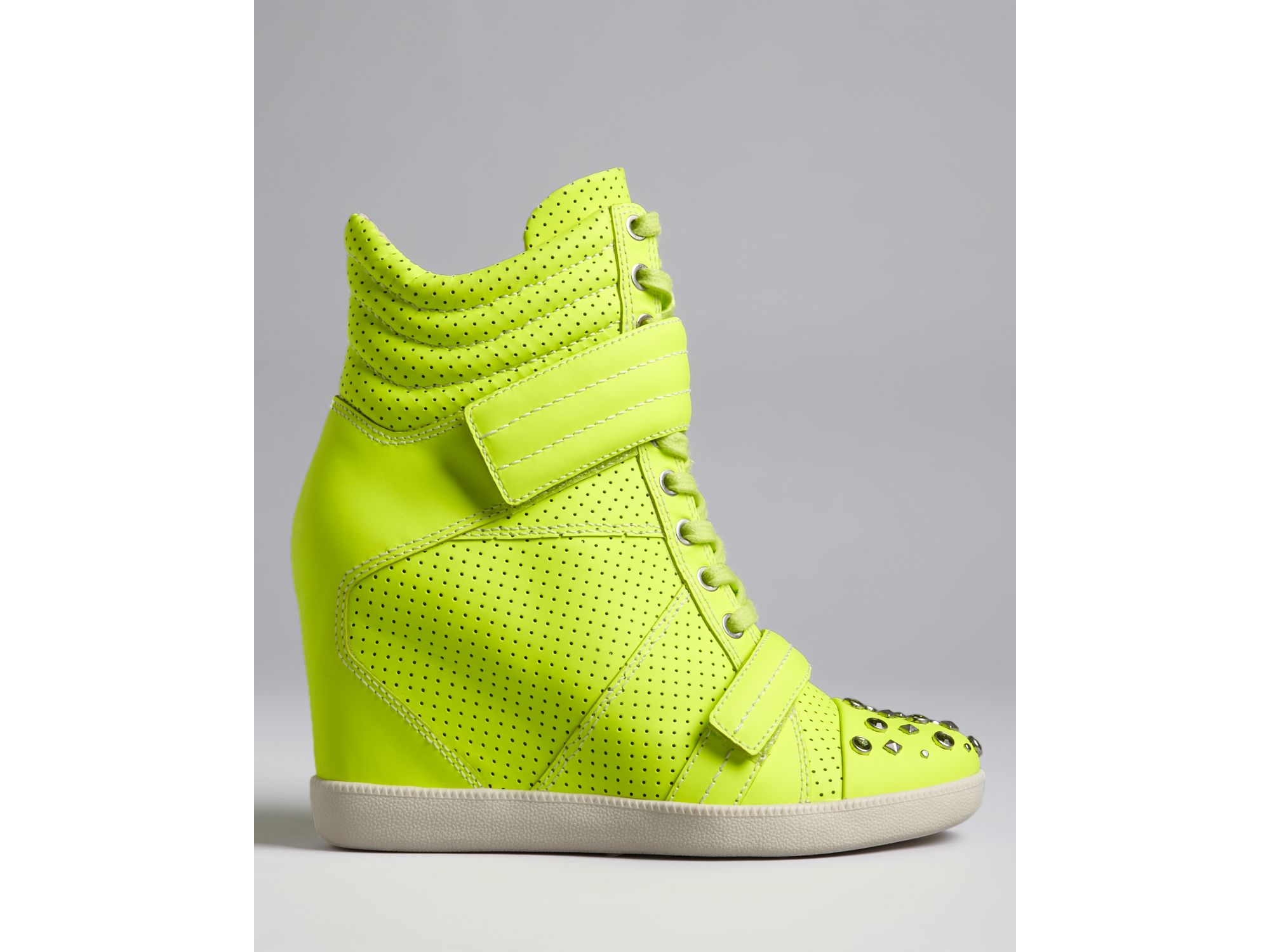 Lyst Boutique 9 High Top Wedge Sneakers Nevan In Yellow