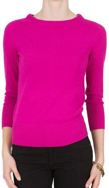 Diane Von Furstenberg Noa Bis Sweater in Pink (gardenia black) - Lyst