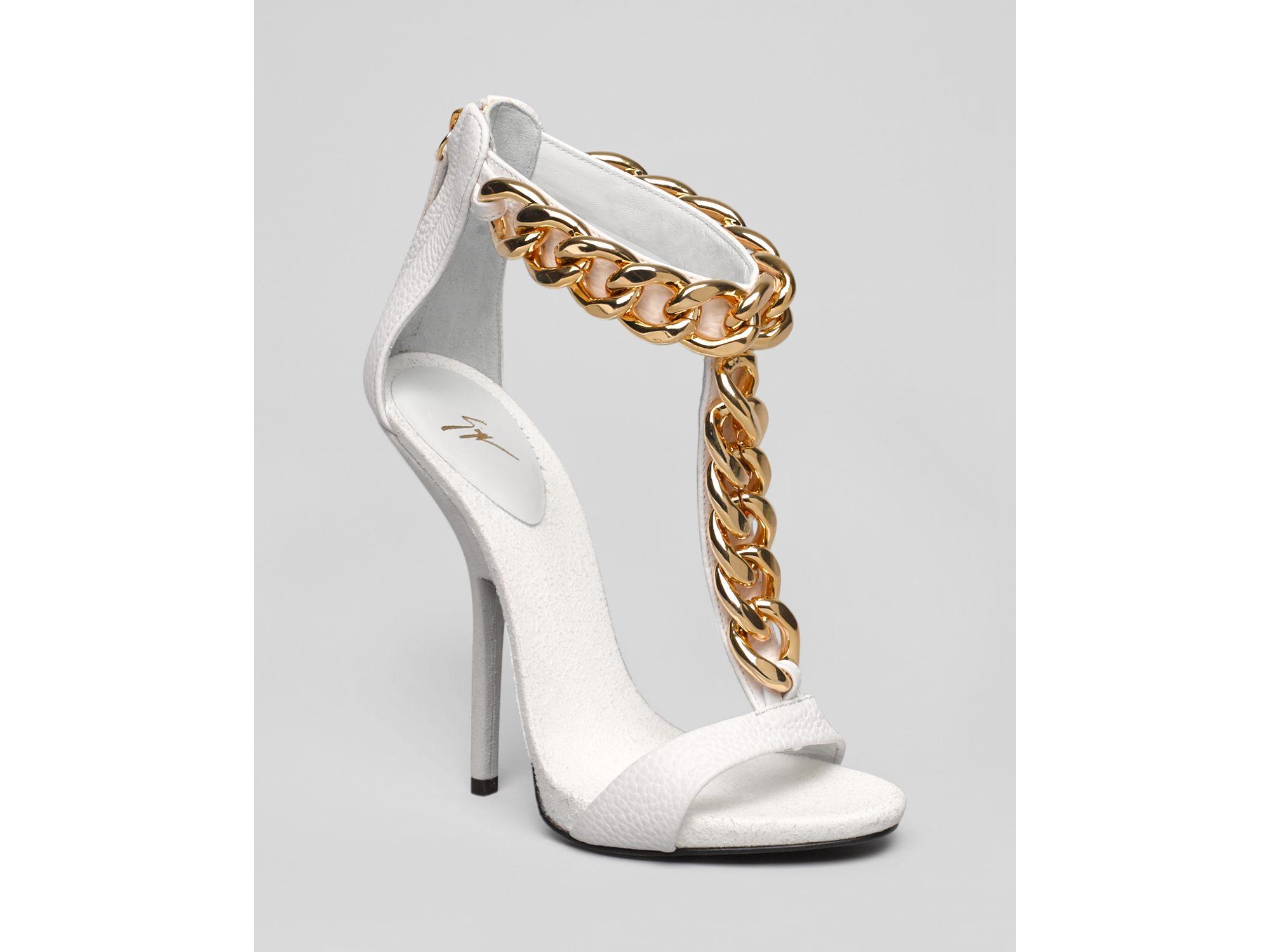 Lyst Giuseppe Zanotti T Strap Chain Platform Sandals