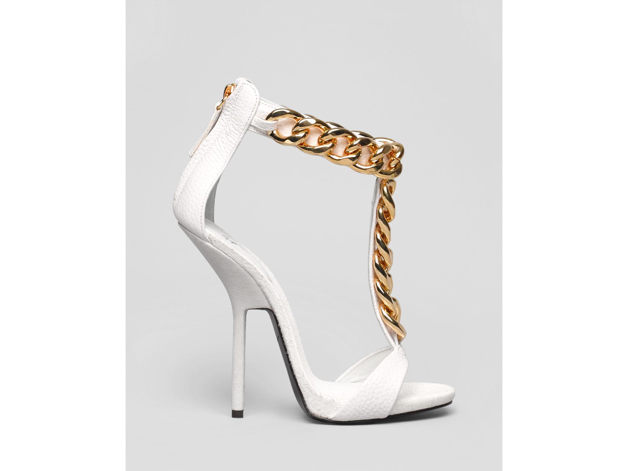 3e9014a2f096 ... uk lyst giuseppe zanotti t strap chain platform sandals alien high  96f4e 3bc2f