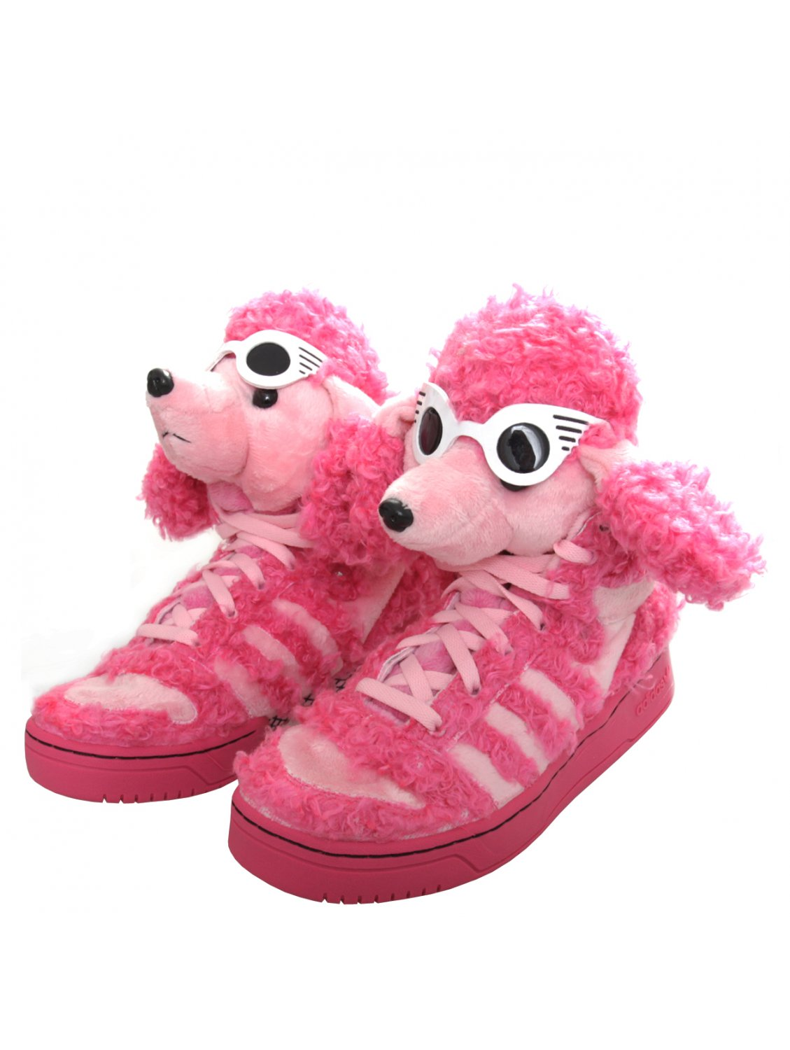 Jeremy scott for adidas Poodle High Top Sneaker Pink in ...